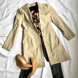 Bebe cotton blazer in cream khaki - Sz 6
